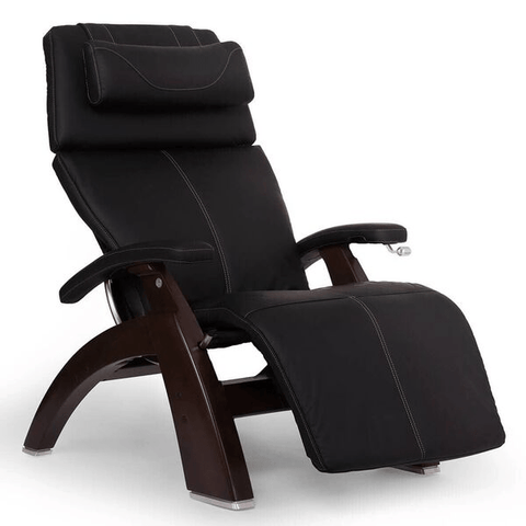 Human Touch Recliner Dark Walnut Wood / Black Soft Hyde / Free Curbside Delivery + $0.00 Human Touch Perfect Chair PC-420 Classic Plus Recliner