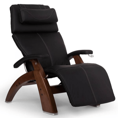 Human Touch Recliner Walnut Wood / Black Soft Hyde / Free Curbside Delivery + $0.00 Human Touch Perfect Chair PC-420 Classic Plus Recliner