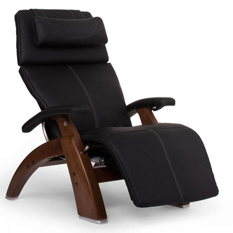 Human Touch Recliner Walnut Wood / Black Soft Hyde / Free Curbside Delivery + $0.00 Human Touch Perfect Chair PC-610 Omni-Motion Classic Recliner