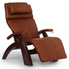 Image of Human Touch Recliner Black Wood / Cognac Premium Leather + $500.00 / Free Curbside Delivery + $0.00 Human Touch Perfect Chair PC-420 Classic Plus Recliner
