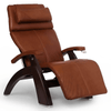 Image of Human Touch Recliner Dark Walnut Wood / Cognac Premium Leather + $500.00 / Free Curbside Delivery + $0.00 Human Touch Perfect Chair PC-420 Classic Plus Recliner