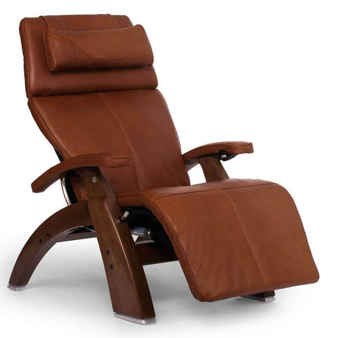 Human Touch Recliner Walnut Wood / Cognac Premium Leather + $500.00 / Free Curbside Delivery + $0.00 Human Touch Perfect Chair PC-610 Omni-Motion Classic Recliner