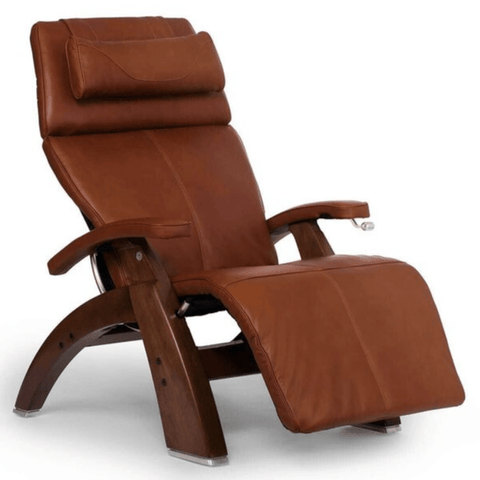 Human Touch Recliner Walnut Wood / Cognac Premium Leather + $500.00 / Free Curbside Delivery + $0.00 Human Touch Perfect Chair PC-420 Classic Plus Recliner