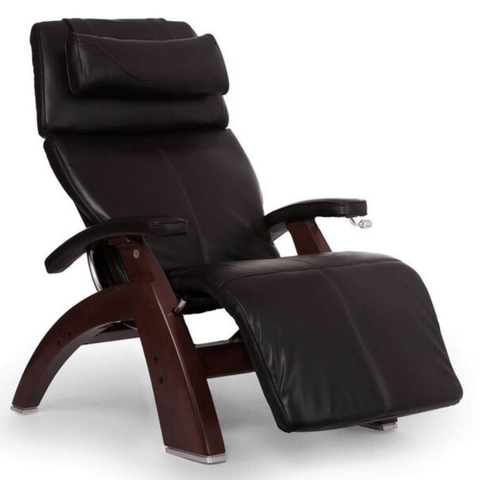 Human Touch Recliner Black Wood / Espresso Premium Leather + $500.00 / Free Curbside Delivery + $0.00 Human Touch Perfect Chair PC-420 Classic Plus Recliner