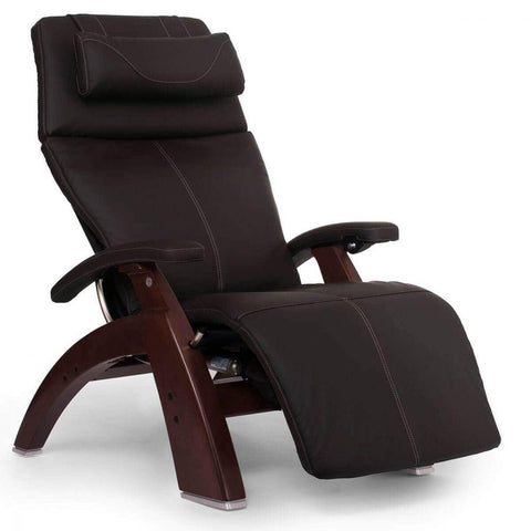 Human Touch Recliner Chestnut Wood / Espresso Leather / Free Curbside Delivery + $0.00 Human Touch Perfect Chair PC-610 Omni-Motion Classic Recliner