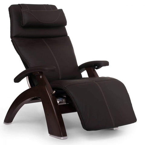 Human Touch Recliner Dark Walnut Wood / Espresso Leather / Free Curbside Delivery + $0.00 Human Touch Perfect Chair PC-610 Omni-Motion Classic Recliner