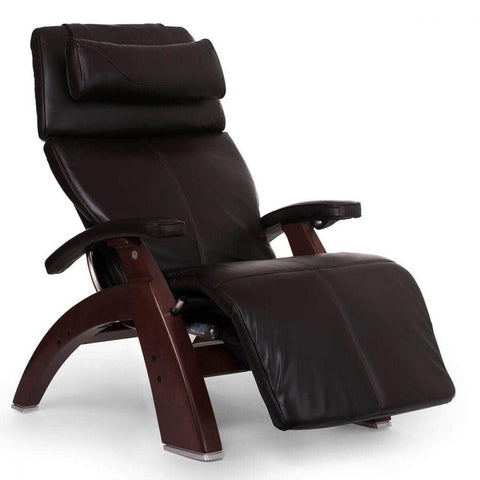 Human Touch Recliner Chestnut Wood / Espresso Premium Leather + $500.00 / Free Curbside Delivery + $0.00 Human Touch Perfect Chair PC-610 Omni-Motion Classic Recliner
