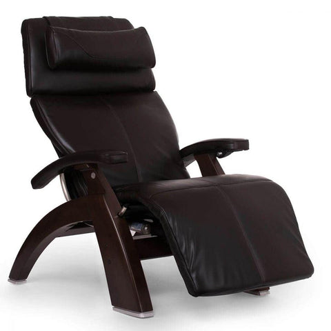Human Touch Recliner Dark Walnut Wood / Espresso Premium Leather + $500.00 / Free Curbside Delivery + $0.00 Human Touch Perfect Chair PC-610 Omni-Motion Classic Recliner