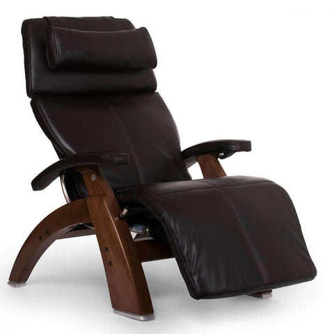 Human Touch Recliner Walnut Wood / Espresso Premium Leather + $500.00 / Free Curbside Delivery + $0.00 Human Touch Perfect Chair PC-610 Omni-Motion Classic Recliner