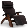 Image of Human Touch Recliner Walnut Wood / Espresso Premium Leather + $500.00 / Free Curbside Delivery + $0.00 Human Touch Perfect Chair PC-420 Classic Plus Recliner