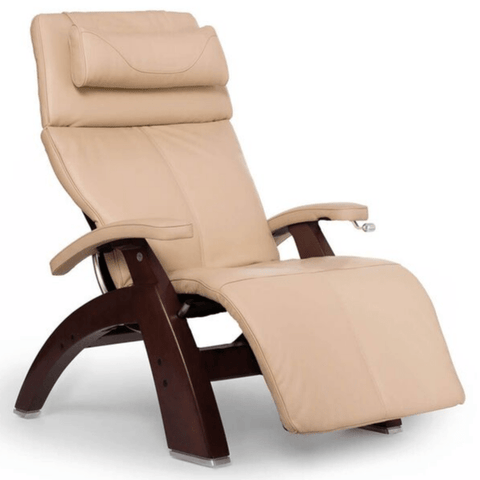 Human Touch Recliner Black Wood / Ivory Premium Leather + $500.00 / Free Curbside Delivery + $0.00 Human Touch Perfect Chair PC-420 Classic Plus Recliner