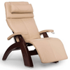 Image of Human Touch Recliner Black Wood / Ivory Premium Leather + $500.00 / Free Curbside Delivery + $0.00 Human Touch Perfect Chair PC-420 Classic Plus Recliner