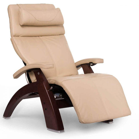 Human Touch Recliner Chestnut Wood / Ivory Premium Leather + $500.00 / Free Curbside Delivery + $0.00 Human Touch Perfect Chair PC-610 Omni-Motion Classic Recliner