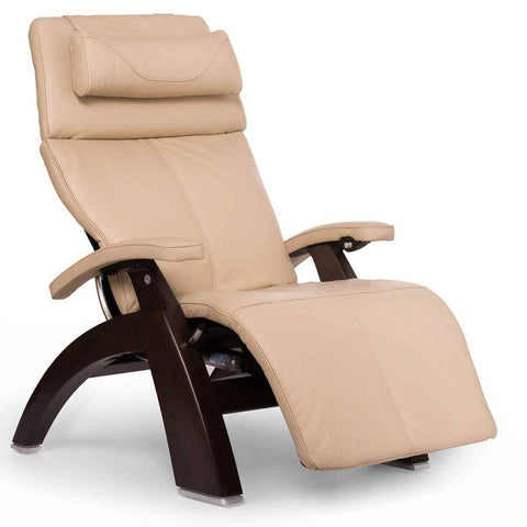 Human Touch Recliner Dark Walnut Wood / Ivory Premium Leather + $500.00 / Free Curbside Delivery + $0.00 Human Touch Perfect Chair PC-610 Omni-Motion Classic Recliner