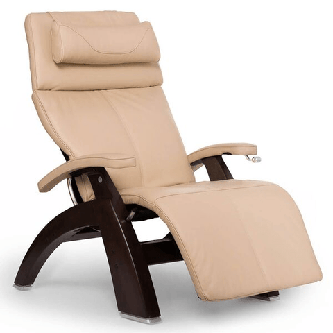Human Touch Recliner Dark Walnut Wood / Ivory Premium Leather + $500.00 / Free Curbside Delivery + $0.00 Human Touch Perfect Chair PC-420 Classic Plus Recliner