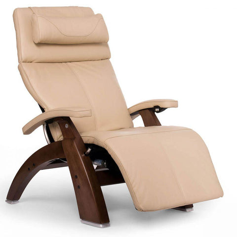 Human Touch Recliner Walnut Wood / Ivory Premium Leather + $500.00 / Free Curbside Delivery + $0.00 Human Touch Perfect Chair PC-610 Omni-Motion Classic Recliner