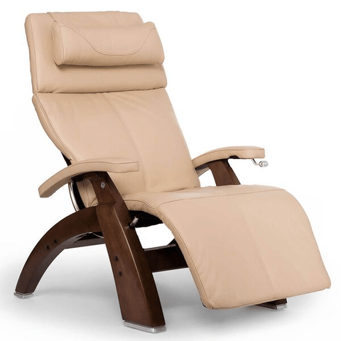 Human Touch Recliner Walnut Wood / Ivory Premium Leather + $500.00 / Free Curbside Delivery + $0.00 Human Touch Perfect Chair PC-420 Classic Plus Recliner