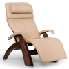 Image of Human Touch Recliner Walnut Wood / Ivory Premium Leather + $500.00 / Free Curbside Delivery + $0.00 Human Touch Perfect Chair PC-420 Classic Plus Recliner