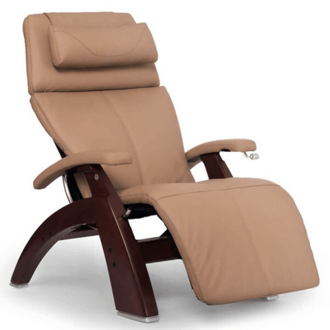 Human Touch Recliner Black Wood / Sand Top Grain Leather + $200.00 / Free Curbside Delivery + $0.00 Human Touch Perfect Chair PC-420 Classic Plus Recliner