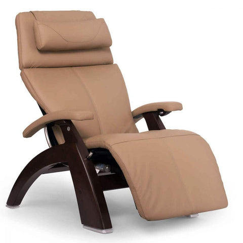 Human Touch Recliner Dark Walnut Wood / Sand Top Grain Leather + $200.00 / Free Curbside Delivery + $0.00 Human Touch Perfect Chair PC-610 Omni-Motion Classic Recliner