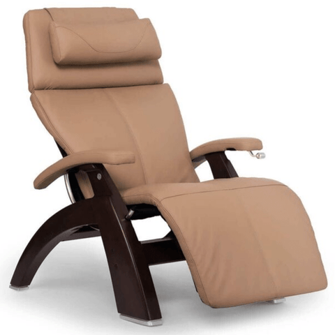 Human Touch Recliner Dark Walnut Wood / Sand Top Grain Leather + $200.00 / Free Curbside Delivery + $0.00 Human Touch Perfect Chair PC-420 Classic Plus Recliner