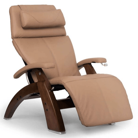 Human Touch Recliner Walnut Wood / Sand Top Grain Leather + $200.00 / Free Curbside Delivery + $0.00 Human Touch Perfect Chair PC-420 Classic Plus Recliner
