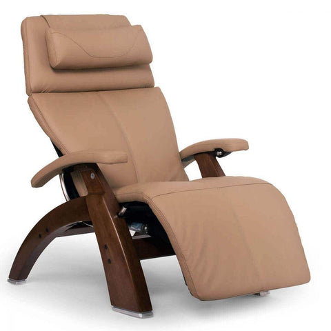 Human Touch Recliner Walnut Wood / Sand Top Grain Leather + $200.00 / Free Curbside Delivery + $0.00 Human Touch Perfect Chair PC-610 Omni-Motion Classic Recliner