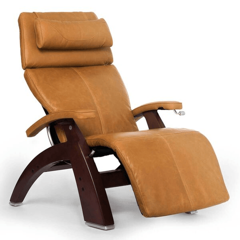 Human Touch Recliner Black Wood / Sycamore Premium Leather + $500.00 / Free Curbside Delivery + $0.00 Human Touch Perfect Chair PC-420 Classic Plus Recliner