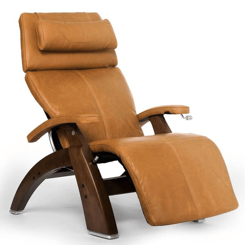 Human Touch Recliner Walnut Wood / Sycamore Premium Leather + $500.00 / Free Curbside Delivery + $0.00 Human Touch Perfect Chair PC-420 Classic Plus Recliner