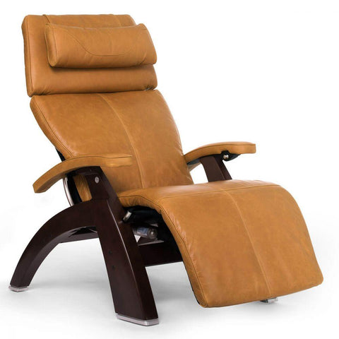 Human Touch Recliner Dark Walnut Wood / Sycamore Premium Leather + $500.00 / Free Curbside Delivery + $0.00 Human Touch Perfect Chair PC-610 Omni-Motion Classic Recliner