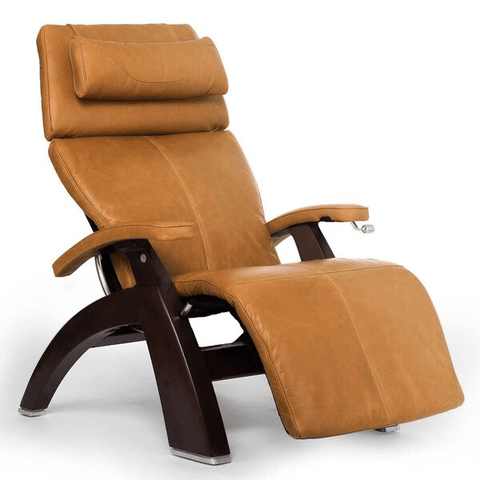 Human Touch Recliner Dark Walnut Wood / Sycamore Premium Leather + $500.00 / Free Curbside Delivery + $0.00 Human Touch Perfect Chair PC-420 Classic Plus Recliner