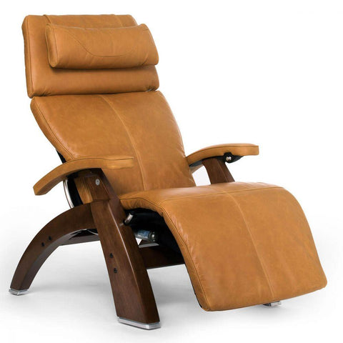 Human Touch Recliner Walnut Wood / Sycamore Premium Leather + $500.00 / Free Curbside Delivery + $0.00 Human Touch Perfect Chair PC-610 Omni-Motion Classic Recliner