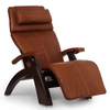 Image of Human Touch Recliner Dark Walnut / Cognac Premium Leather / Free Curbside Delivery + $0.00 Human Touch Perfect Chair PC-LiVE PC-600 Zero Gravity Recliner