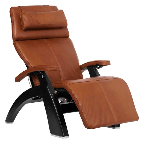 Human Touch Recliner Matte Black / Cognac Premium Leather / Free Curbside Delivery + $0.00 Human Touch Perfect Chair PC-LiVE PC-600 Zero Gravity Recliner
