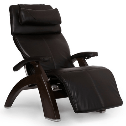 Human Touch Recliner Dark Walnut / Espresso Premium Leather / Free Curbside Delivery + $0.00 Human Touch Perfect Chair PC-LiVE PC-600 Zero Gravity Recliner