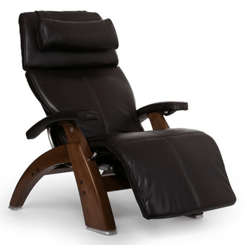 Human Touch Recliner Walnut / Espresso Premium Leather / Free Curbside Delivery + $0.00 Human Touch Perfect Chair PC-LiVE PC-600 Zero Gravity Recliner