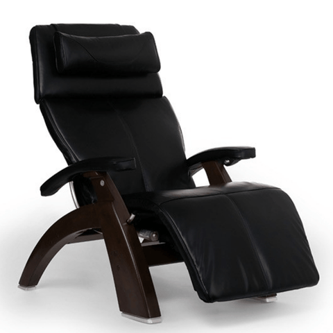 Human Touch Recliner Dark Walnut / Black Premium Leather / Free Curbside Delivery + $0.00 Human Touch Perfect Chair PC-LiVE PC-600 Zero Gravity Recliner