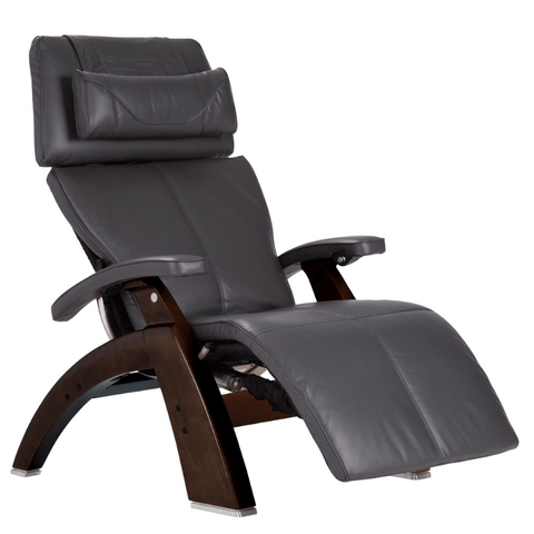 Human Touch Recliner Dark Walnut / Gray Premium Leather / Free Curbside Delivery + $0.00 Human Touch Perfect Chair PC-LiVE PC-600 Zero Gravity Recliner