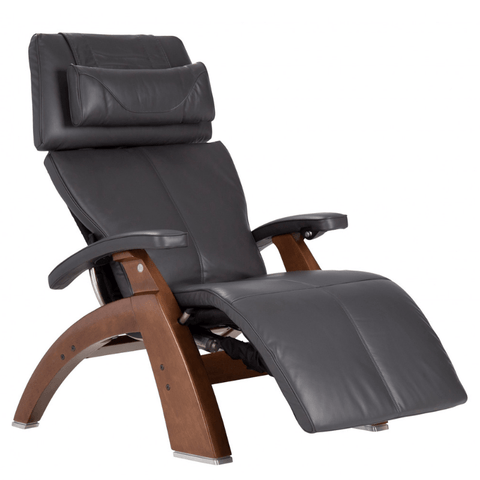 Human Touch Recliner Walnut / Black Premium Leather / Free Curbside Delivery + $0.00 Human Touch Perfect Chair PC-LiVE PC-600 Zero Gravity Recliner