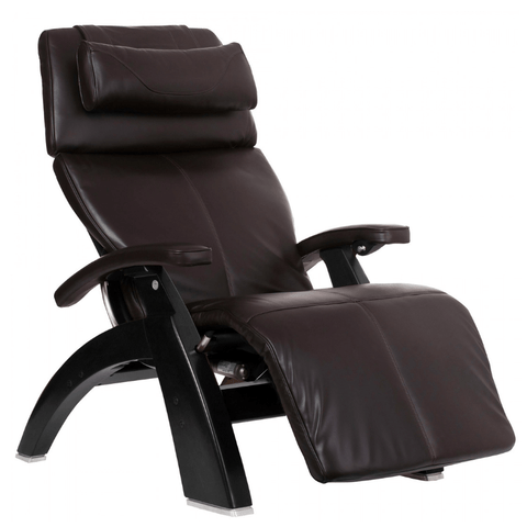 Human Touch Recliner Matte Black / Espresso Premium Leather / Free Curbside Delivery + $0.00 Human Touch Perfect Chair PC-LiVE PC-600 Zero Gravity Recliner