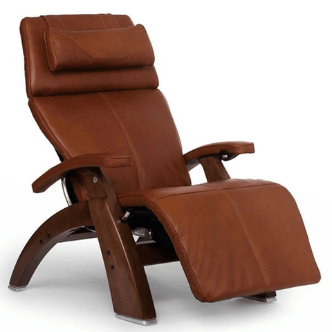 Human Touch Recliner Walnut / Cognac Premium Leather / Free Curbside Delivery + $0.00 Human Touch Perfect Chair PC-LiVE PC-600 Zero Gravity Recliner