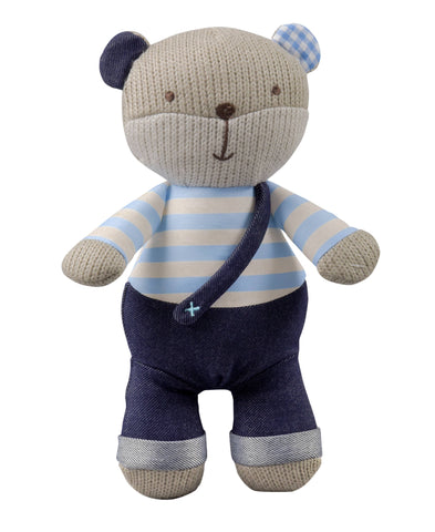 STORKI - STORKI Knitted Stuffed Teddy Bear with Rattle
