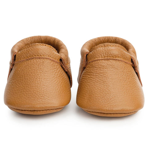 BirdRock Baby - Classic Brown Fringeless Moccasins