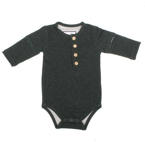 Henley Bodysuit - Forest Green