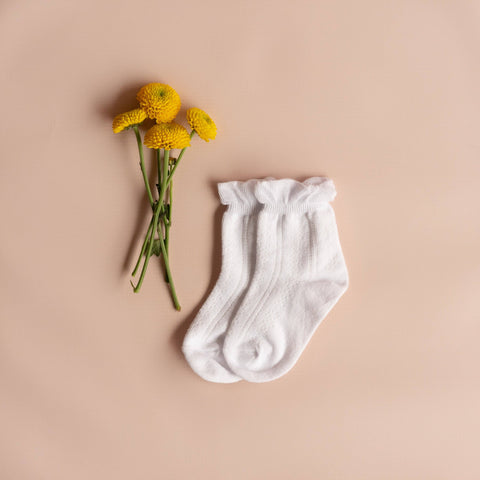 Little Stocking Co. - White Anklet Socks