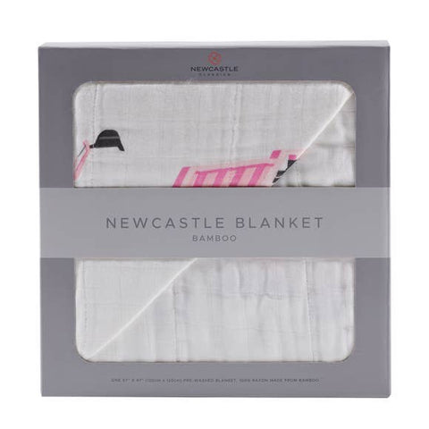 Pink Digger & White Newcastle Blanket