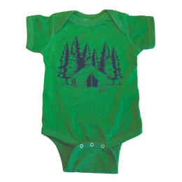 Camping Heather Green Bodysuit