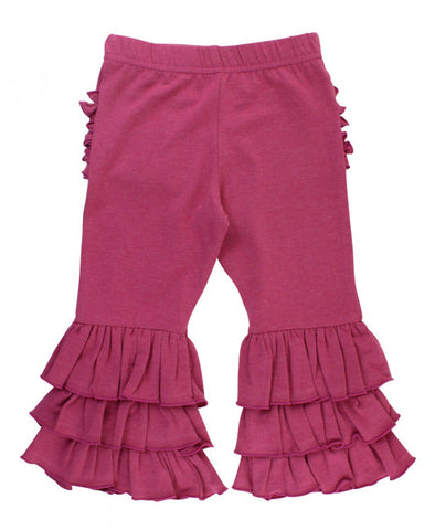 Heather Mulberry Ruffle Pants