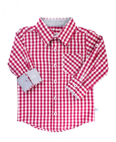 Mulberry Gingham Button Down Shirt