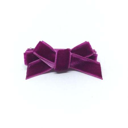 Raspberry Velvet Mini Hair Bow
